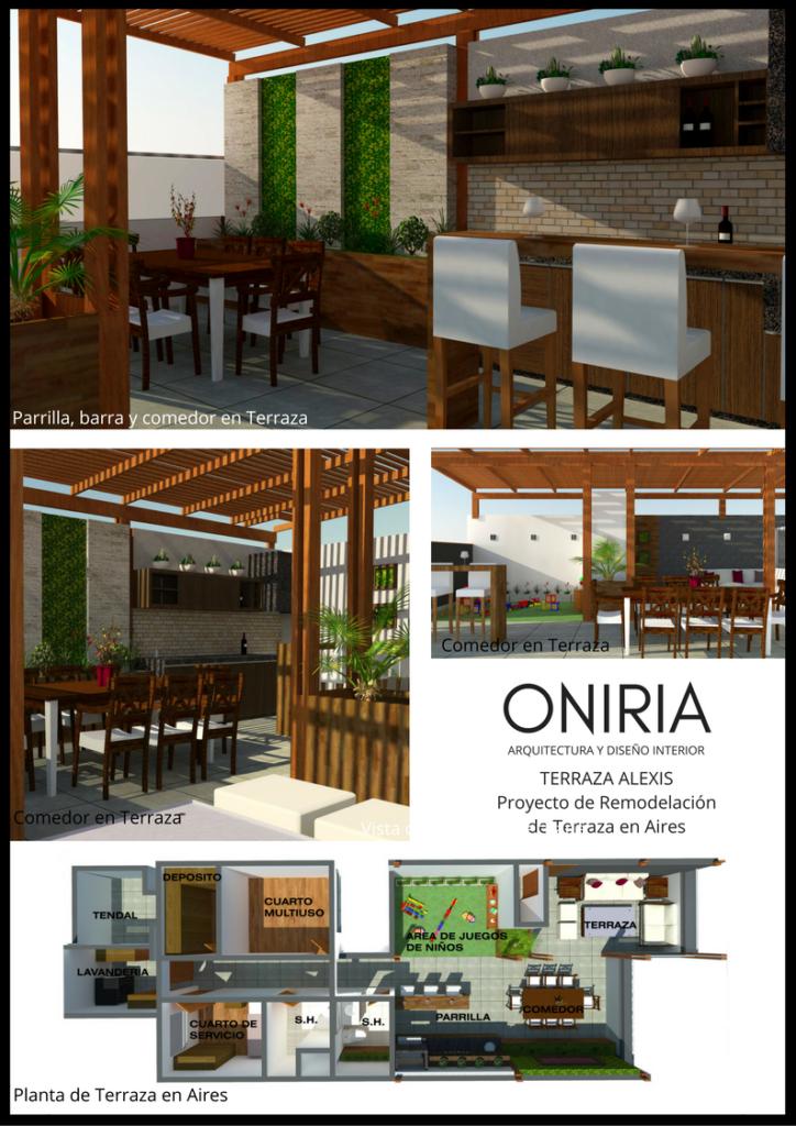 Un Diseño De Terraza En Azotea Diseño De Terrazas Y Parrillas